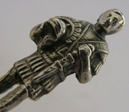 ENGLISH SOLID STERLING SILVER ROMAN SOLDIER WAX SEAL FIGURE 1989 UNUSUAL
