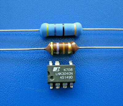 LNK304GN Widerstand 47 Ohm 3 Watt +1 HF Drossel 470µH .... Waschmaschne