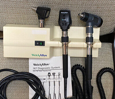 Welch Allyn 767 Wall Set 25020 Otoscope 11710 Ophthalmoscope 23810 Microview