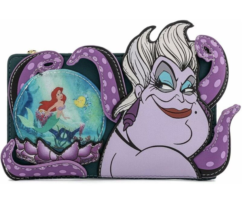 Loungefly DISNEY Villains Scene Ursula Crystal Ball Little Mermaid Wallet NWT