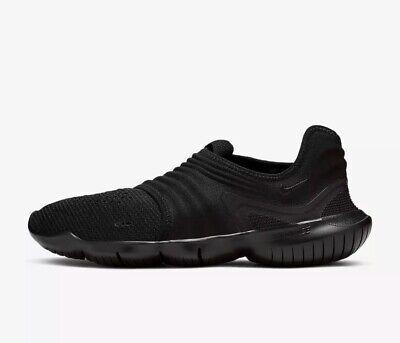 Nike Free RN Flyknit 3.0 Men's Black New Running Trainers AQ5707-006 Size 9 UK