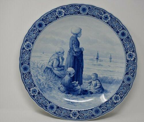 "Royal Delft De Porceleyne Fles Charger Plaque  16""  after Artz"