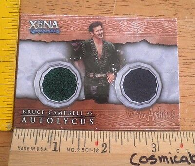 Xena Warrior Princess costume card DC1 Bruce Campbell Autolycus dual