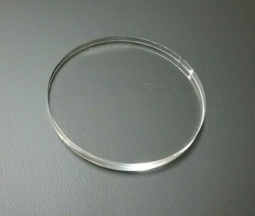 """10 pcs 1/4 Inch 2"""" Inch Diameter Clear Acrylic Disc / Circle Laser Polished."""