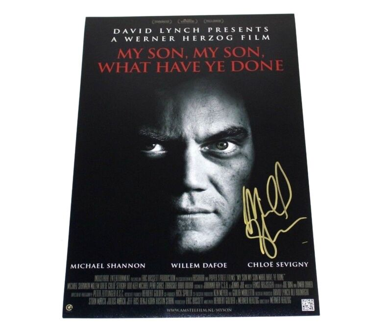 ACTOR MICHAEL SHANNON SIGNED MY SON WHAT HAVE YE DONE 12x18 MOVIE POSTER w/COA