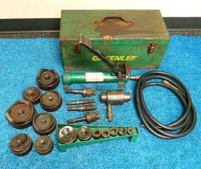 Greenlee 7310sb Hydraulic Knockout 12- 4 Conduit Punch Set 1725 Pump