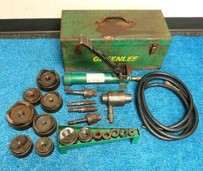 Greenlee 7310sb Hydraulic Knockout 12- 4 Conduit Punch Set 1725 Pump