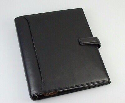 Filofax Nappa A5 2017 Black Leather Agenda New 025137