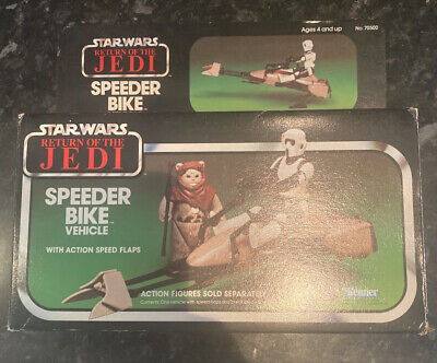 Vintage Star Wars Speeder Bike Vehicle Kenner ( Return Of The Jedi 1983 )
