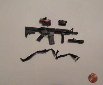 1 6 Scale Verycool Us Female Shooter Black Ver Action Figure M4 Assault Rifle