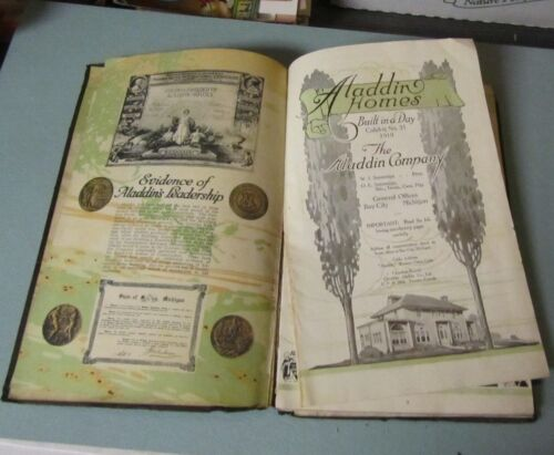 """1919 Aladdin Homes Advertising Catalog Bay City Michigan """"Built in a Day"""" 118pg"""