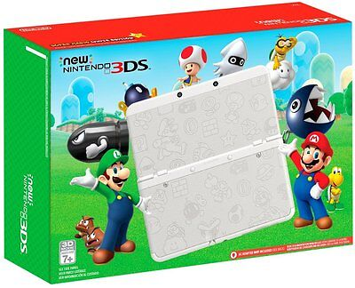 New  Nintendo 3Ds Super Mario White System Limited Edition Handheld Console
