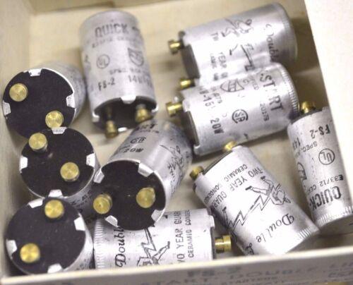 4-PK FS-2 QUICK START Double Life FLUORESCENT STARTER 15-20 Watt NOS FS-2 NEW