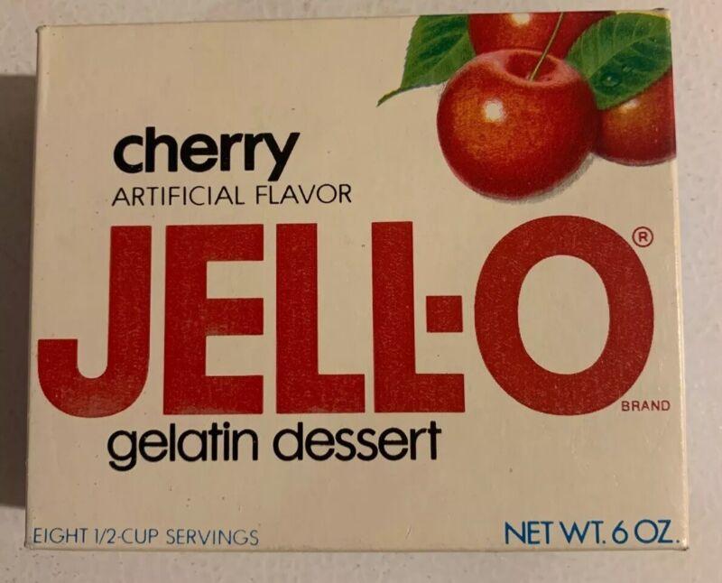 Vintage 1970's Jello Brand Gelatin Fruit Dessert Full NOS Sealed Unopened Box