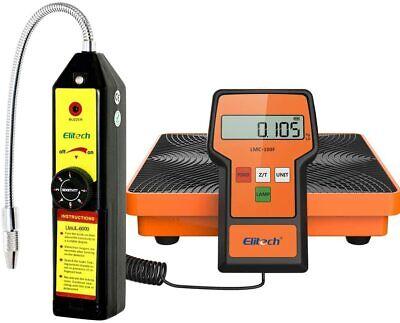 Elitech Wjl-6000 Refrigerant Leak Detector Lmc-100f Charging Scale Hvac Tools