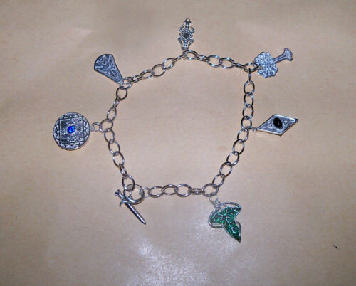 LOTR Lord of the Rings Middle Earth Charm Bracelet Sterling Silver .925