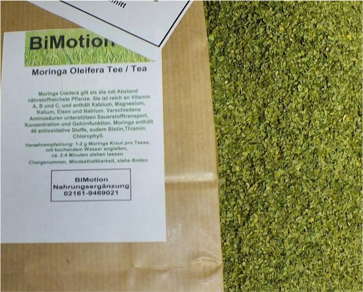 Bi-Motion, Moringa Oleifera, Tee, 500g, (3,19Euro/100g)