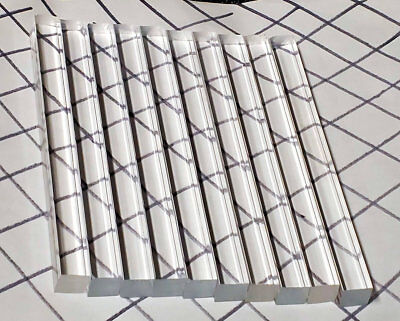 10 Pcs 12 X 12 X 6 Long Square Clear Acrylic Plexiglass Lucite Rod .50 Inch