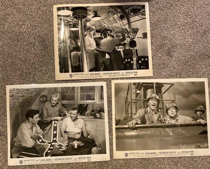 """""""Operation Pacific"""" 1951 Movie Photos W/ John Wayne"""