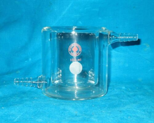 Ace 100ml Jacketed Glass Beaker 3/8 with Hose Connection