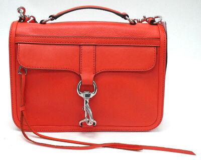 NWT Rebecca Minkoff Bowery Crossbody Electric Red Leather Purse Handbag $295