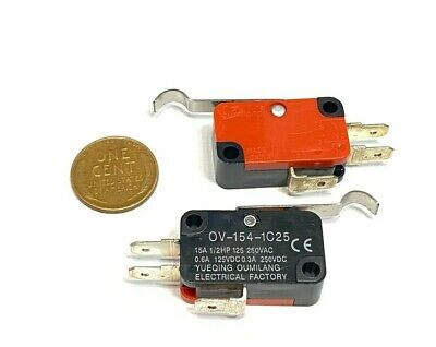 2 Pcs V-154-1c25 Momentary Limit Micro Switch Spdt Snap Action Switch C16
