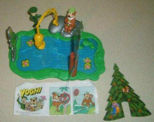 Vintage RARE Hanna Barbera YOGI BEAR Fishing Mini Playset Not Marx Italian