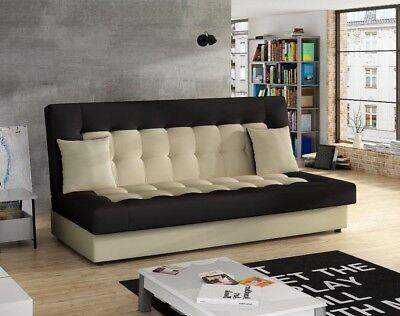 Wohnzimmer Moderne Schlafsofa (Sofa Napoli mit Bettkasten und Schlaffunktion Wellenfeder Wohnzimmer Farbauswahl)
