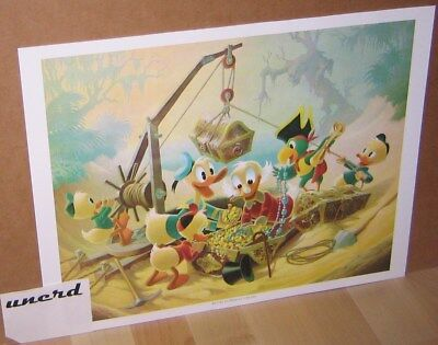 Carl Barks Kunstdruck: Return to Morgan's Island - Scrooge McDuck Art Print