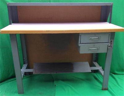 Commercial Production Wood Steel Work Table Bench Workbench 2 Drawers 60 X 30