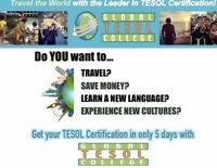 Become an ESL/TESOL Certified In 5 Days - No Degree Required