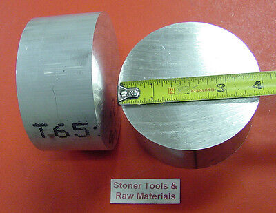 3 Pieces 4 Aluminum 6061 Round Bar Rod 2 Long Solid Lathe Bar Stock 4.00 Od