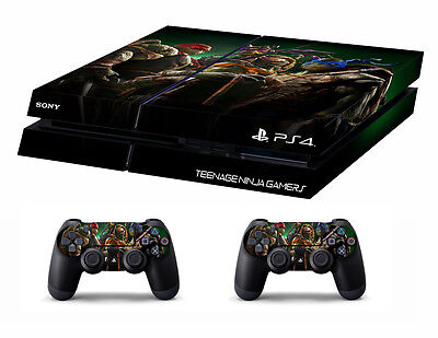 PS4 vinyl Skin Stickers mutant ninja turtles style for Console & 2 controllers