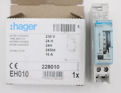 Hager Tagesschaltuhr EH010 elektromechanisch 1S/16A 1PLE