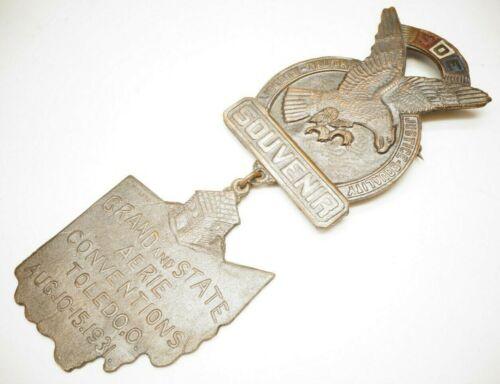FOE Fraternal Order of Eagles Souvenir Pin Toledo Aug 10-15 1931