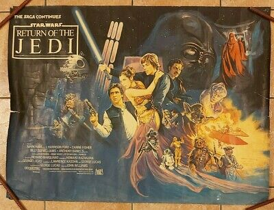 STAR WARS-THE RETURN OF THE JEDI- 1983 UK QUAD POSTER 40 X 30 INCHES .