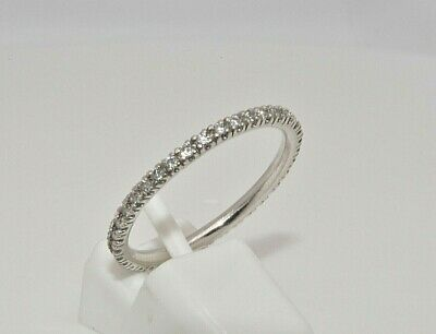Platinum 0.50ct diamond thin full eternity ring size L