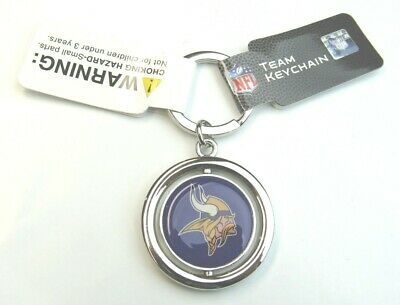 Viking Logo Ring - NFL Minnesota Vikings Spinning Logo Key Ring Keychain Forever Collectibles