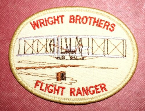 *New* Wright Brothers Flight Ranger Biplane Aviation Souvenir Embroidered Patch