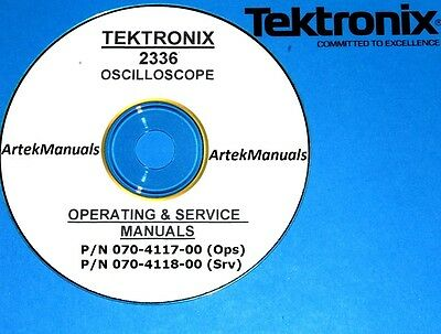 Tektronix Operating Service Manual Wschematics For The 2336 Oscilloscope