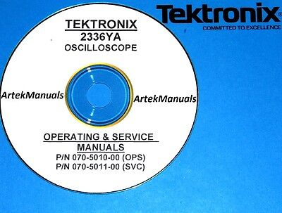Tektronix Operating Service Manual Wschematics For The 2336ya Oscilloscope