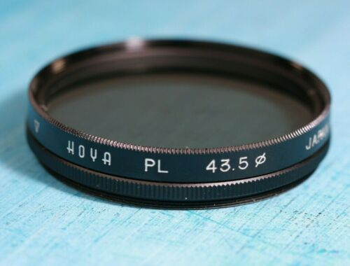 HOYA PL Lens FILTER 43.5mm Variable Polarizing Threaded Black Metal