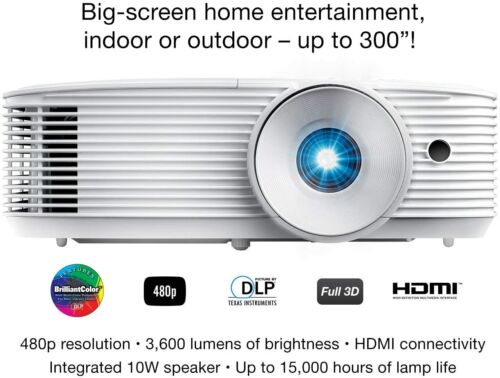NEW Optoma SH360 Affordable Home Projector | Indoor or Outdoor Movies 480P ONLY