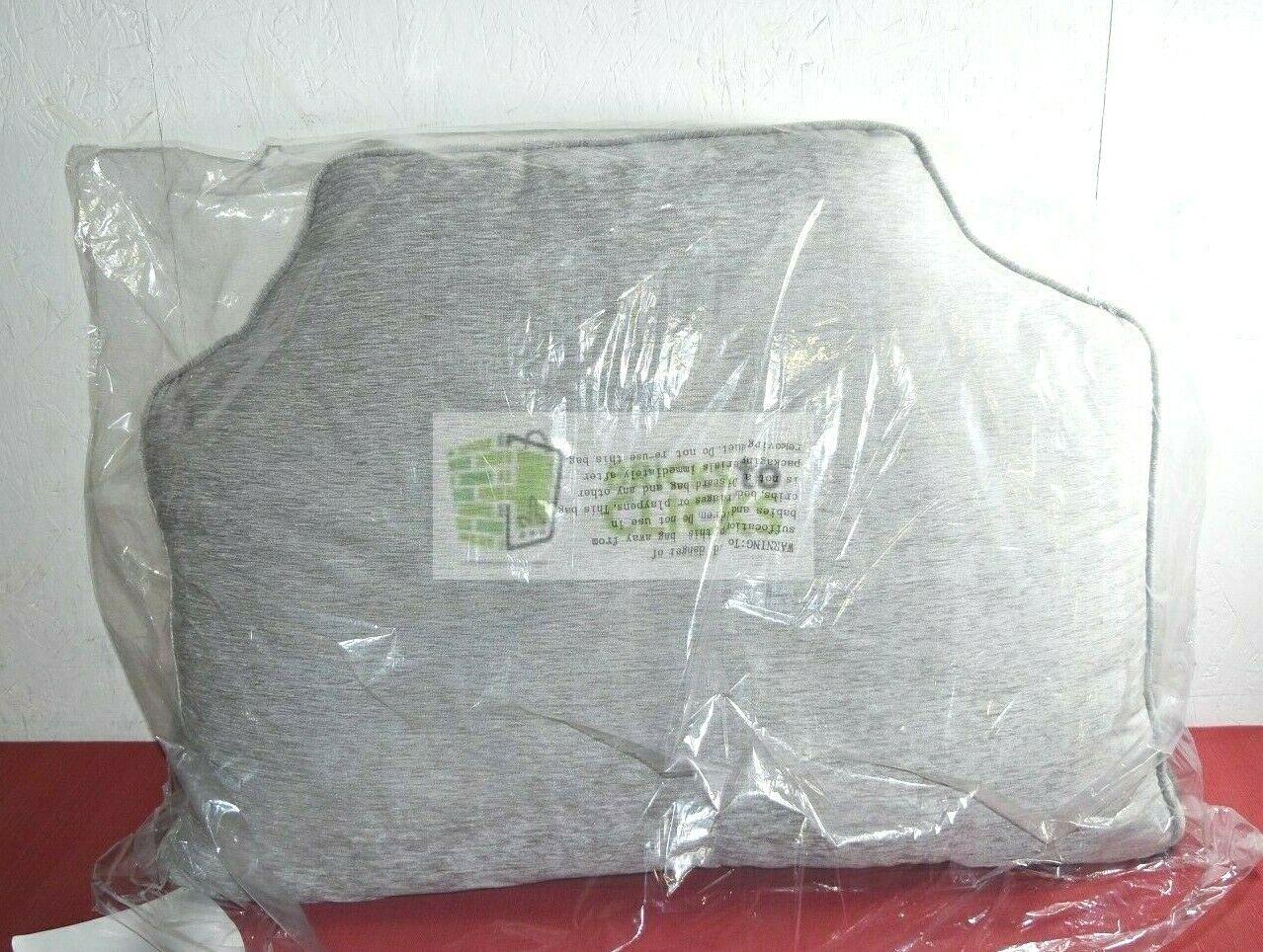 Intelligent Design- Valor Chenille Headboard Pillow, Gray, 3