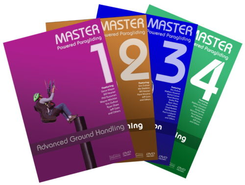 Master Powered Paragliding DVD series COMBO by Jeff Goin, Master PPG 1-4 Set