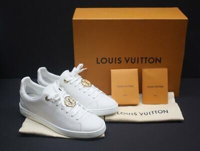 Women's LOUIS VUITTON Frontrow Sneaker Shoes White Size 40 LV / 10 US (1A2XOU)