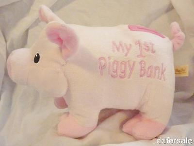 Huggable Plush Pink My 1st Piggy Bank, Piggy Bank, Coin Bank From DanDee (My First Piggy Bank Pink)