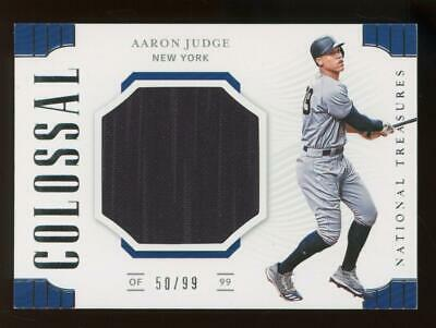2019 National Treasures Colossal Aaron Judge 50/99 Player Worn Jersey