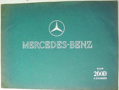MERCEDES-BENZ TYP 260D 4 Cyl Original Car Sales Brochure 1937 #6798 II.636 K
