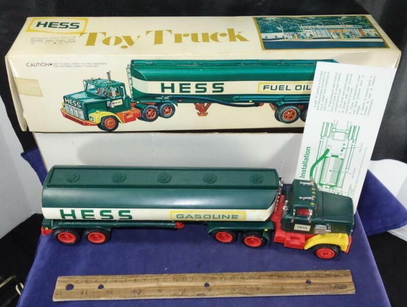Hess 1977 Gasoline Toy Truck Fuel Tanker w/ Original Box Insert !